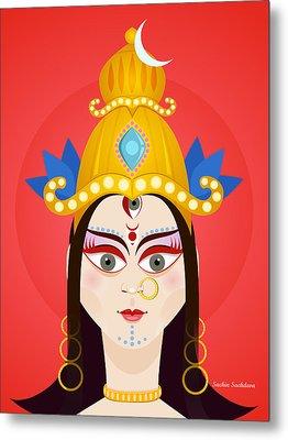 Goddess Maa Durga Metal Print by Sachin Sachdeva
