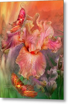 Goddess Of Spring Metal Print by Carol Cavalaris
