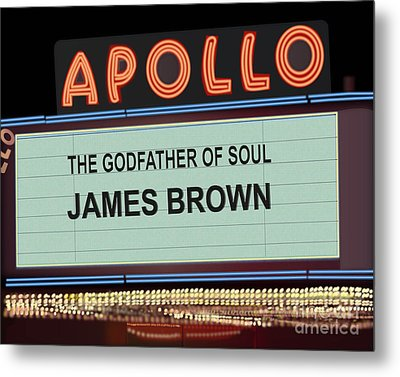 Godfather Of Soul Metal Print by Michael Lovell