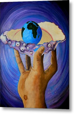 God's Little Blue Pearl Of Great Price Metal Print by Pamorama Jones