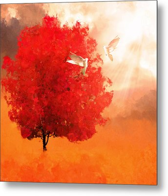 God's Love Metal Print by Lourry Legarde