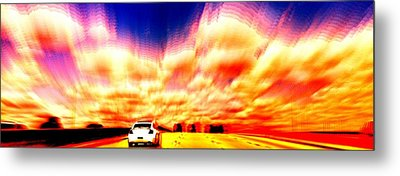 Going For A Ride Metal Print by Paulo Guimaraes