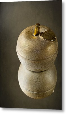 Gold Apple Metal Print by Svetlana Sewell