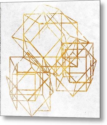 Gold Cubed II Metal Print by South Social Studio