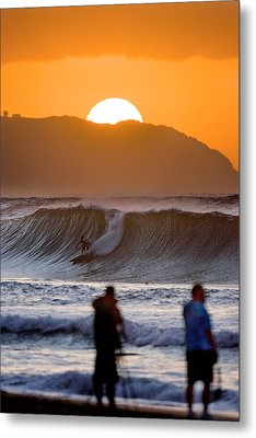 Gold Kaena Sunset Metal Print by Sean Davey