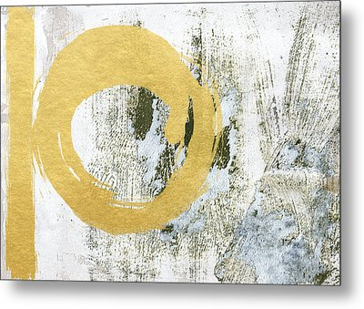 Gold Rush - Abstract Art Metal Print by Linda Woods