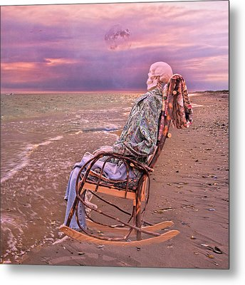 Golden And Grateful Hour Metal Print by Betsy C Knapp