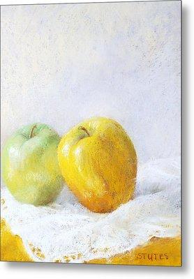 Golden Apple Metal Print by Nancy Stutes