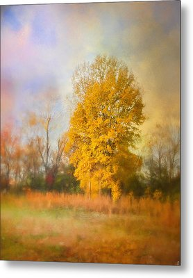Golden Autumn Splendor - Fall Landscape Metal Print by Jai Johnson