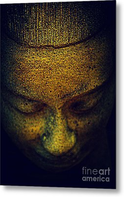 Golden Buddha Metal Print by Susanne Van Hulst