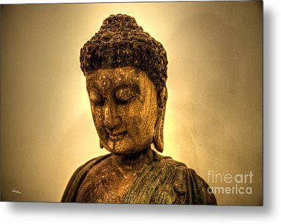 Golden Buddha Metal Print by T Lang