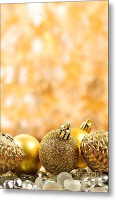 Golden Christmas  Metal Print by Elena Elisseeva