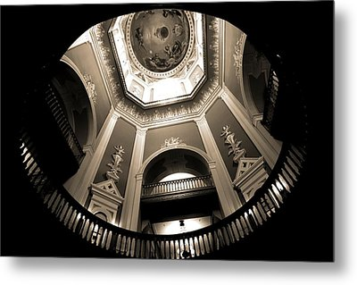 Golden Dome Ceiling Metal Print by Dan Sproul