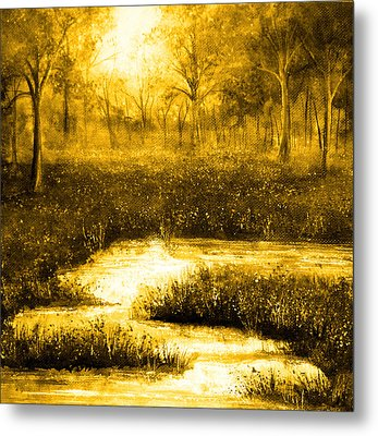 Golden Evening Metal Print by Ann Marie Bone