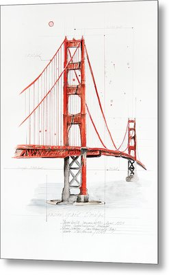 Golden Gate Bridge Metal Print by Astrid Rieger