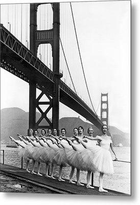 Golden Gate Bridge Ballet Metal Print by Underwood Archives