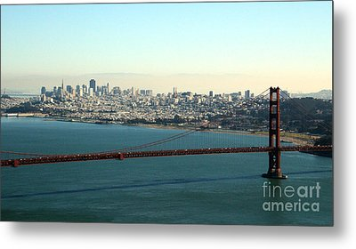 Golden Gate Bridge Metal Print by Linda Woods