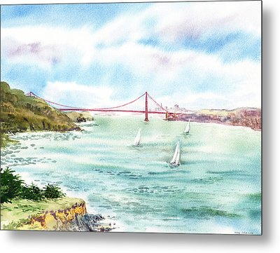 Golden Gate Bridge View From Point Bonita Metal Print by Irina Sztukowski