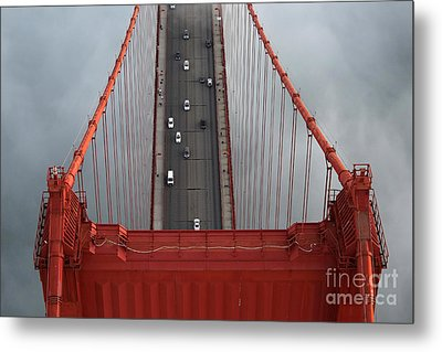 Golden Gate Peak Metal Print by Alex Menendez