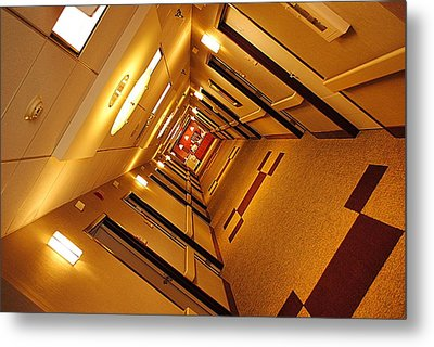 Golden Hall Metal Print by Frozen in Time Fine Art Photography