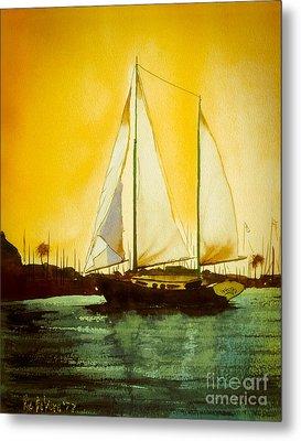 Golden Harbor  Metal Print by Kip DeVore