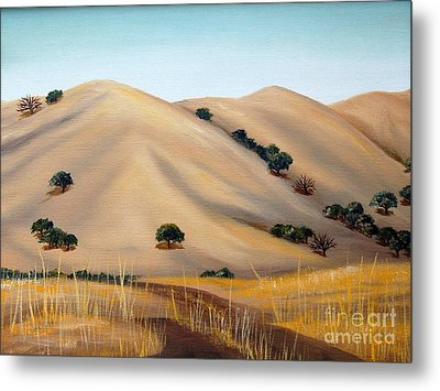 Golden Hills Metal Print by AnnaJo Vahle