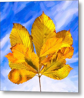 Golden Memories Of Fall Metal Print by Mark E Tisdale