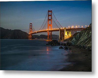 Golden Night Metal Print by Peter Irwindale