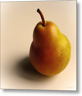 Golden Pear Metal Print by Julie Magers Soulen