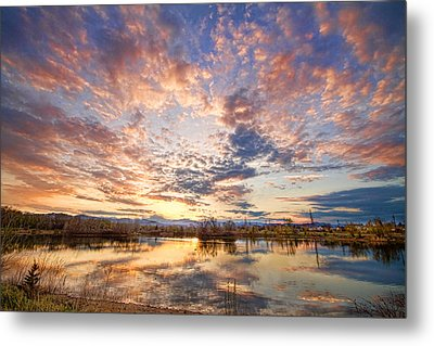Golden Ponds Scenic Sunset Reflections 4 Metal Print by James BO  Insogna
