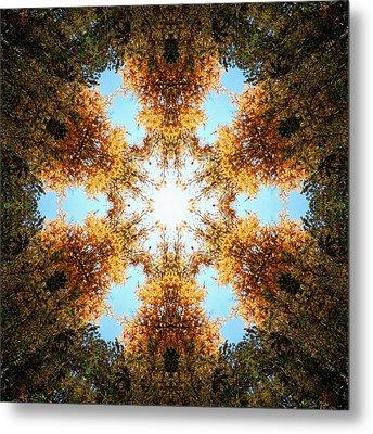 Golden Shimmer K2 Metal Print by Derek Gedney