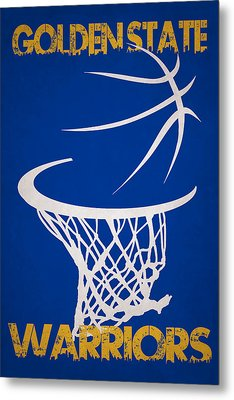 Golden State Warriors Hoop Metal Print by Joe Hamilton