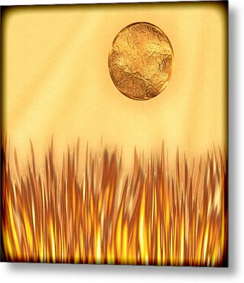 Golden Summers Metal Print by Wendy J St Christopher