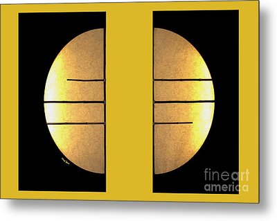 Golden Sun Diptych Metal Print by Cheryl Young