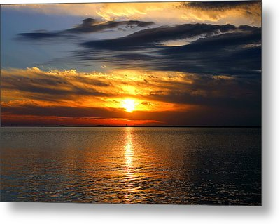 Golden Sun Metal Print by Faith Williams