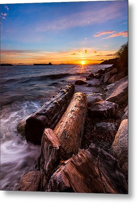 Golden Sunset Metal Print by Alexis Birkill