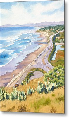 Golden View From Torrey Pines Metal Print by Mary Helmreich