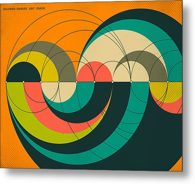 Goldner Harary Arc Graph Metal Print by Jazzberry Blue