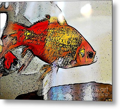 Goldfish Metal Print by Sarah Loft