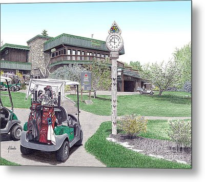 Golf Seven Springs Mountain Resort Metal Print by Albert Puskaric