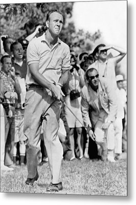 Golfer Arnold Palmer Metal Print by Underwood Archives