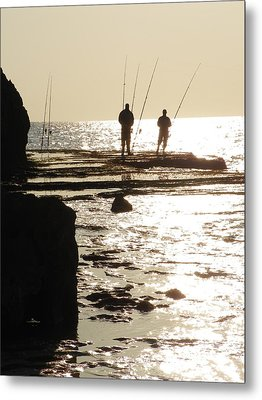 Gone Fishing Metal Print by Noreen HaCohen