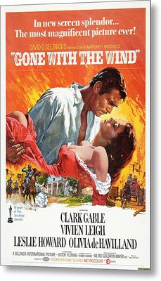 Gone With The Wind - 1939 Metal Print by Georgia Fowler