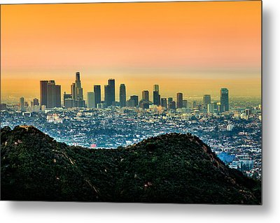 Good Morning La Metal Print by Az Jackson