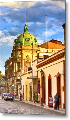 Gorgeous Streets Of Oaxaca Mexico Metal Print by Mark E Tisdale