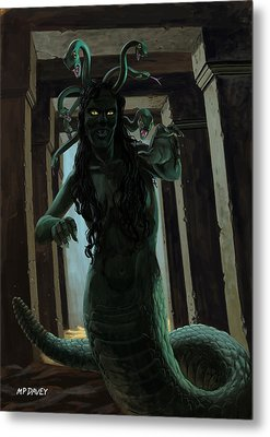 Gorgon Medusa Metal Print by Martin Davey