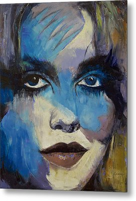 Goth Girl Metal Print by Michael Creese