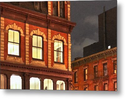 Gotham By Night - New York City Metal Print by Mark E Tisdale