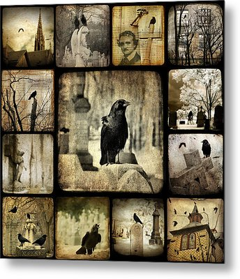 Gothic And Crows Metal Print by Gothicolors Donna