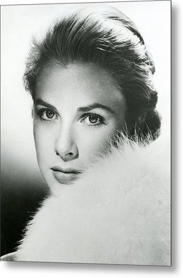 Grace Kelly Close Up Metal Print by Retro Images Archive